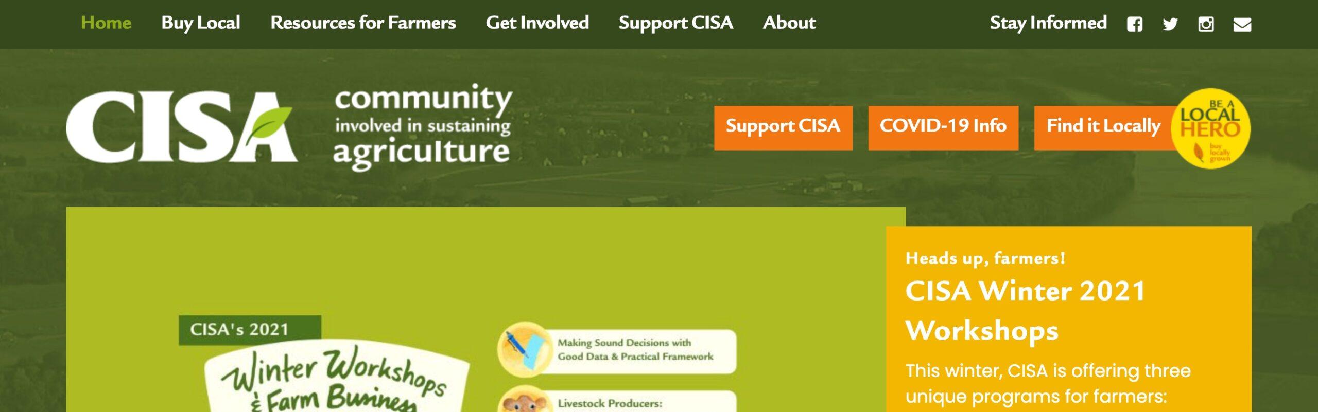 CISA nav bar example