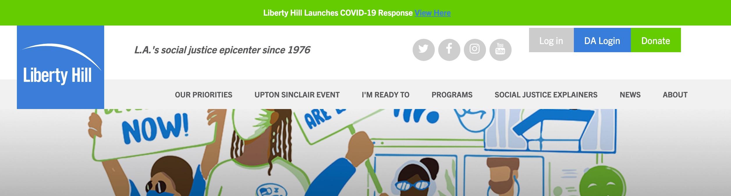 Liberty Hill nav bar