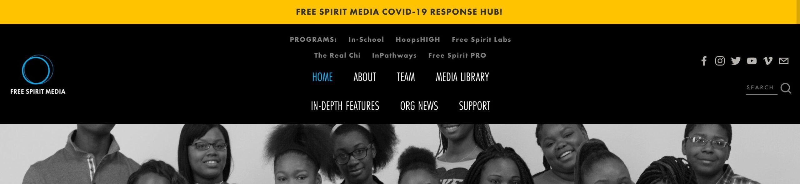 Message at top Free Spirit Media