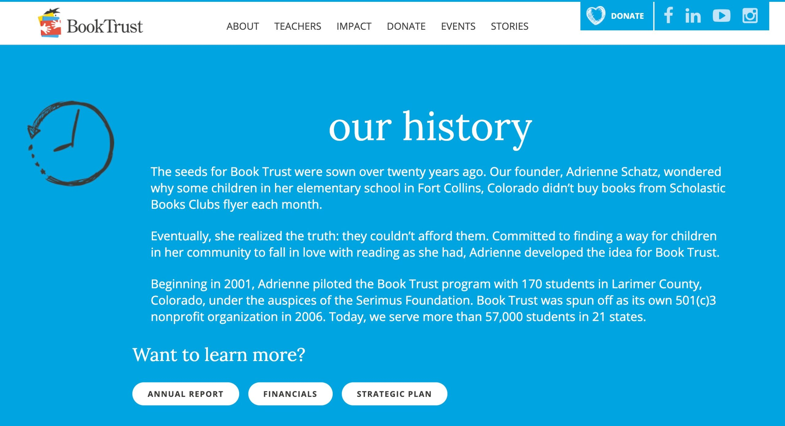 Book Trust nonprofit story of founding