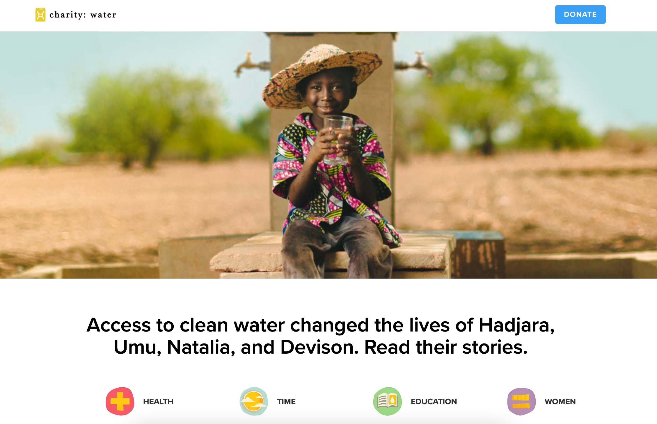 Charity Water nonprofit story people