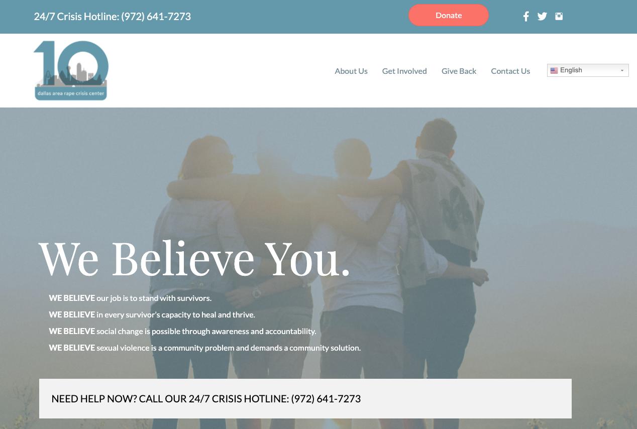 Dallas Area Rape Crisis center brand values