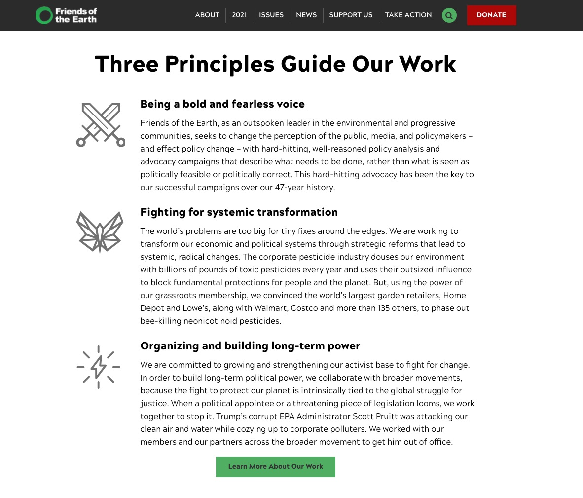 Friends of the earth guiding principles
