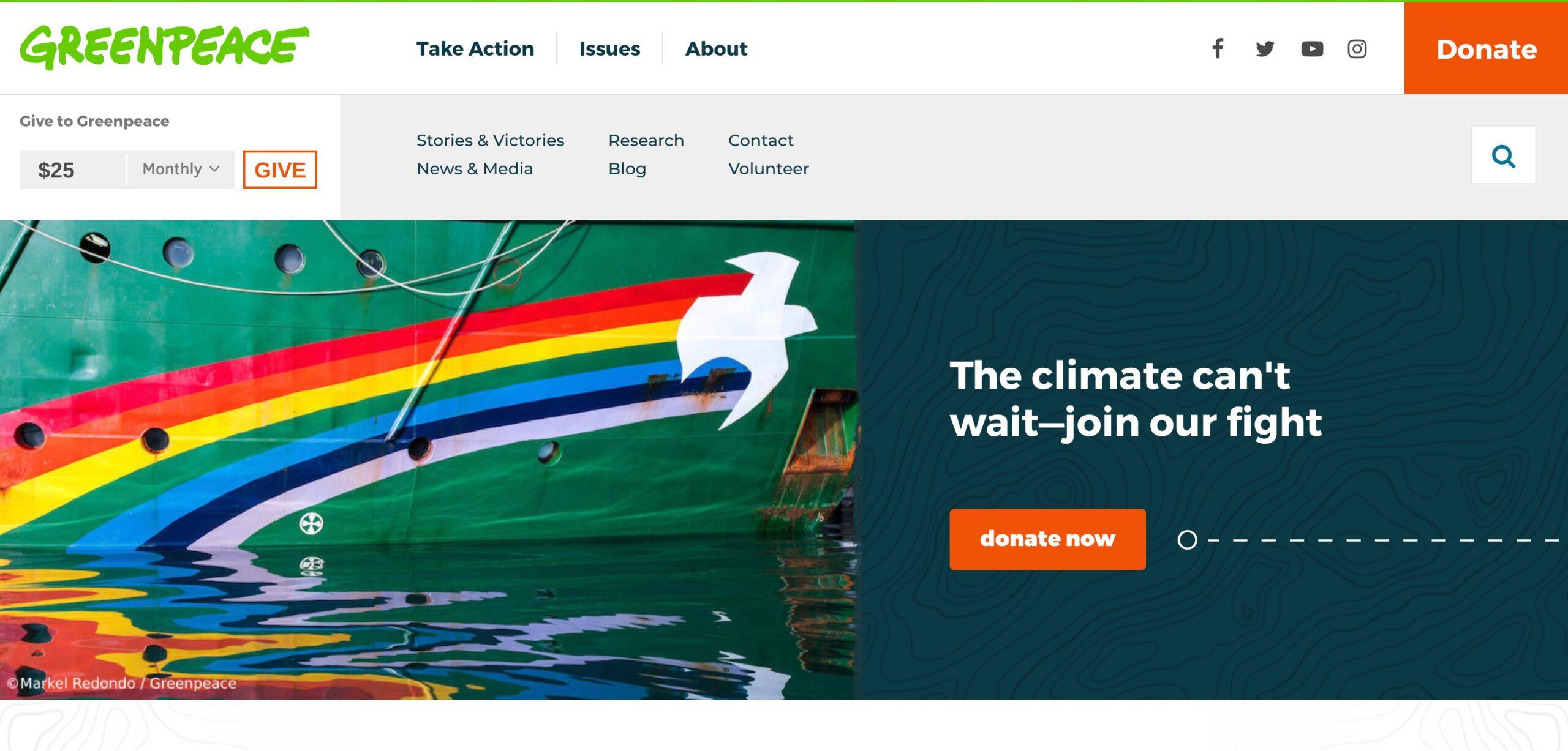 Greenpeace USA brand example