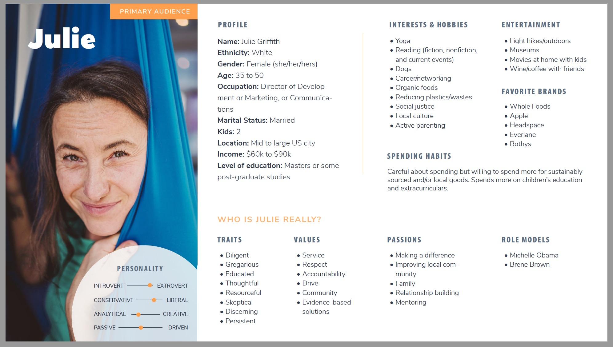 Pixel Lighthouse nonprofit persona card