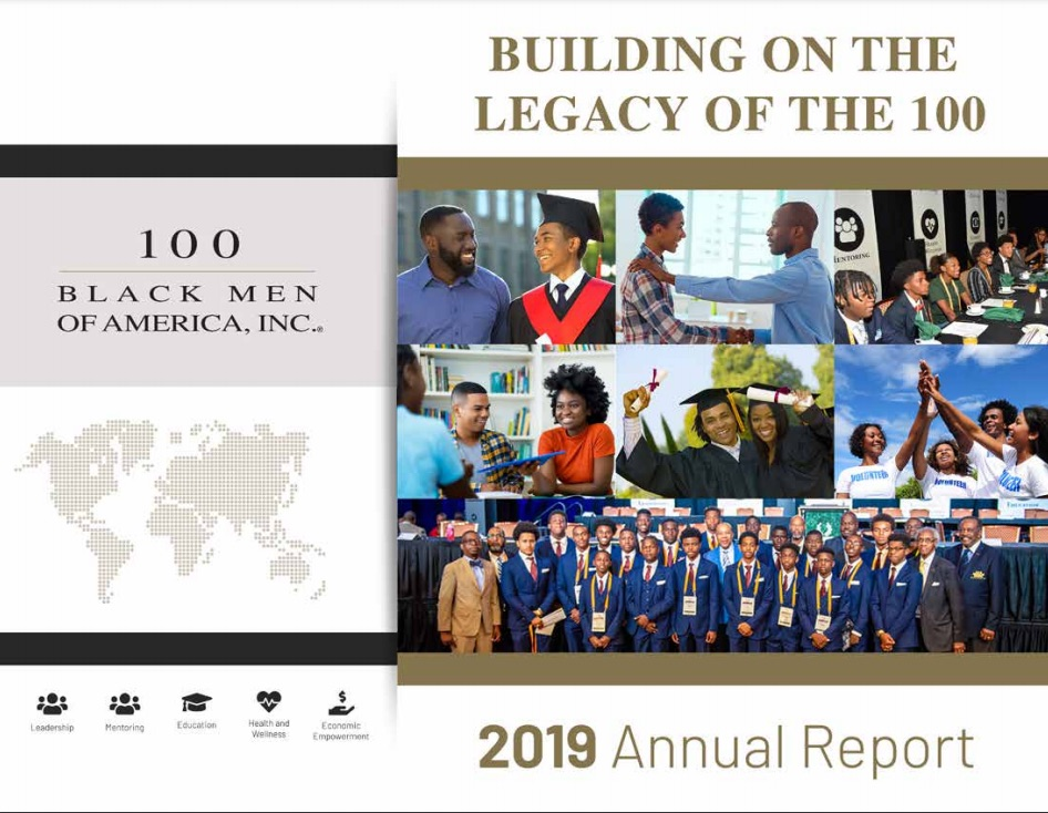 100 Black Men of America nonprofit annual report cover